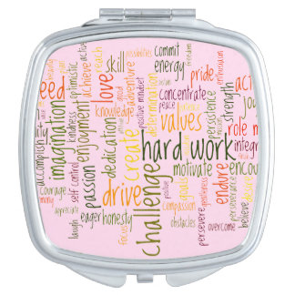 Motivation Words #2, Confidence boost at each look Vanity Mirror