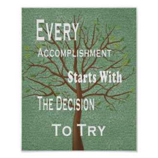 Motivational achievement and accomplishment poster