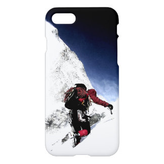 Motivational Achievement Mountaineer at Top iPhone 7 Case