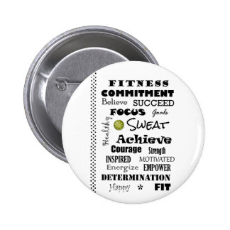 Motivational and Inspirational Fitness Typography 6 Cm Round Badge