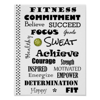 Motivational and Inspirational Fitness Typography Poster