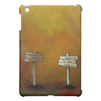 Motivational art fun unique painting Watch 4 Signs iPad Mini Covers