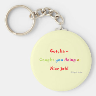 Motivational Basic Round Button Key Ring