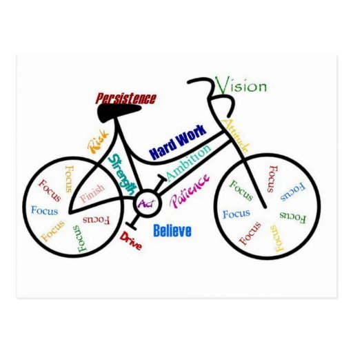 Motivational Bike, Bicycle, Cycling, Sport, Hobby Postcards
