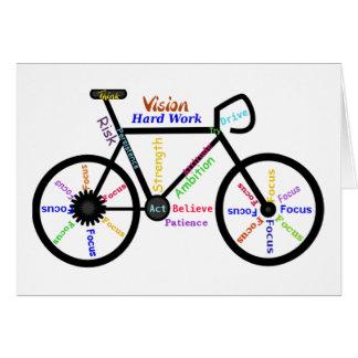 Motivational Bike, Cycle, Biking, Sport Words Card