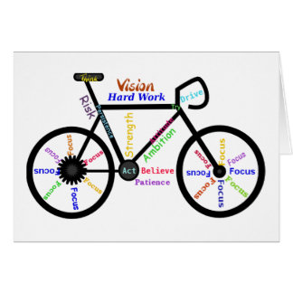 Motivational Bike, Cycle, Biking, Sport Words Greeting Card
