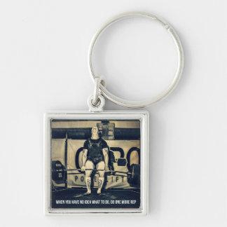 Motivational Bodybuilding Gym Keychain