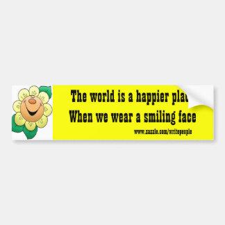 motivational bumper stickers-happy face bumper sticker