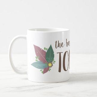 Motivational calligraphy feather gem mug