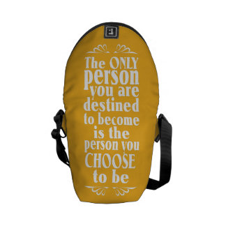 Motivational CHOICE custom monogram messenger bag