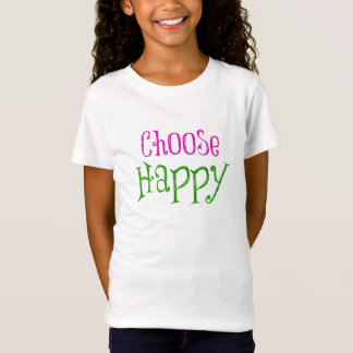 Motivational Choose Happy Affirmation Quote T-Shirt