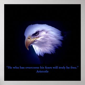 Motivational Courage Eagle Eyes Poster Print