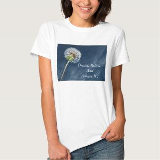 Motivational-dandelion print tshirt