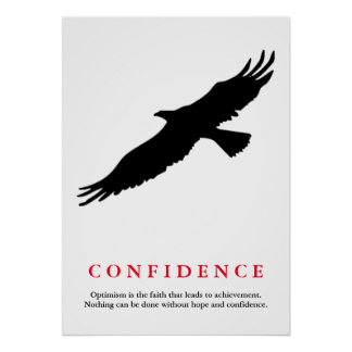 Motivational Eagle Silhouette Confidence Quote Poster