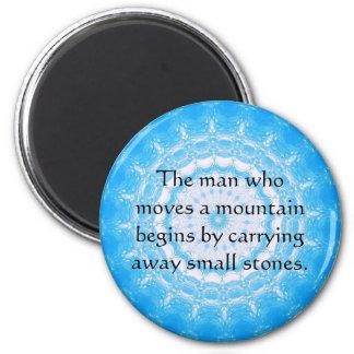 Motivational Encourage Inspirational Quote 6 Cm Round Magnet