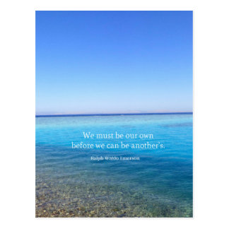 Motivational encouraging life quote postcard