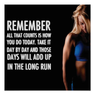 Motivational Female Fitness Gym Poster