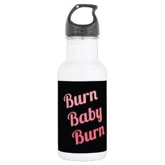 Motivational Fitness Burn Baby Black Pink 532 Ml Water Bottle