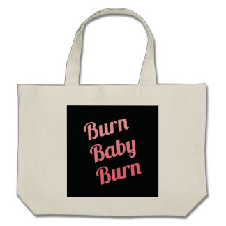 Motivational Fitness Burn Baby Black Pink Bag