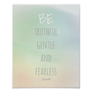 motivational Gandhi quote poster be truthful