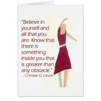 Motivational Greeting Card - Believe In Yourself
