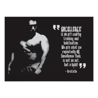 Motivational Gym Poster - Aristotle Quote