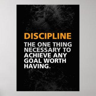 Motivational Gym Poster - Discipline