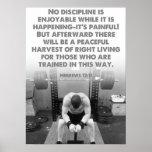 Motivational Gym Poster - Hebrews 12:11