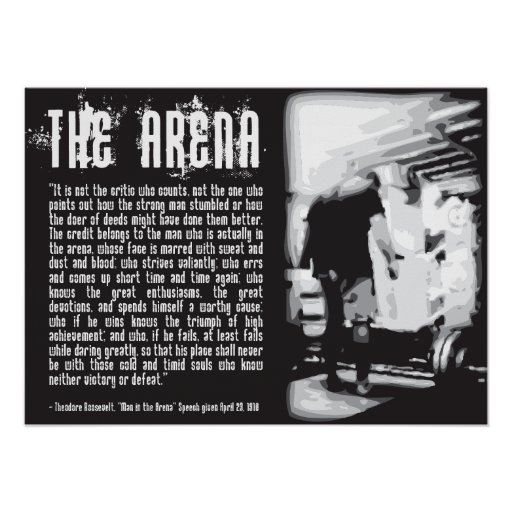 Motivational Gym Poster - Man in the Arena