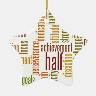 Motivational Half Marathon Word Cloud Ceramic Ornament