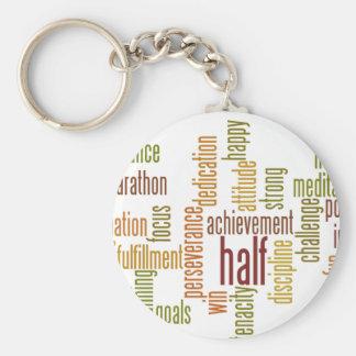 Motivational Half Marathon Word Cloud Key Chain