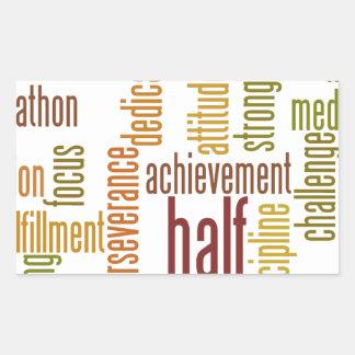 Motivational Half Marathon Word Cloud Rectangle Stickers