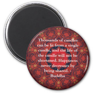Motivational Inspirational Buddha Quote 6 Cm Round Magnet