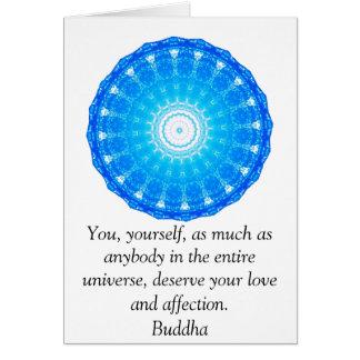 Motivational Inspirational Buddha Quote Greeting Card