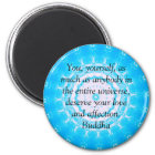 Motivational Inspirational Buddha Quote Magnet