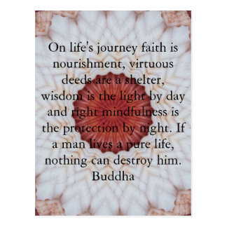Motivational Inspirational Buddha Quote Postcard
