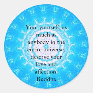 Motivational Inspirational Buddha Quote Round Sticker