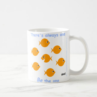 Motivational Inspirational Motto Unique Goldfish Coffee Mug