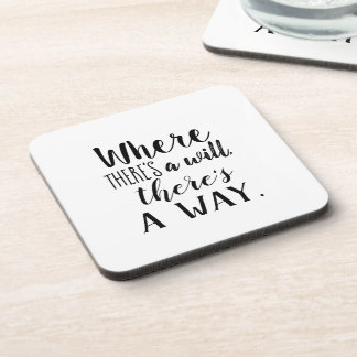Motivational Inspirational Quote Saying Typography Coaster