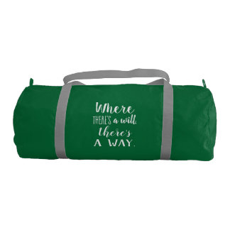 Motivational Inspirational Quote Saying Typography Gym Bag