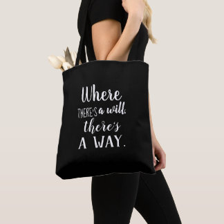 Motivational Inspirational Quote Saying Typography Tote Bag