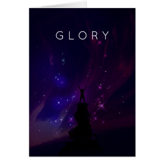 Motivational Inspirational Space Violet Scenery Card