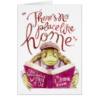 Motivational L. Frank Baum Quote Watercolor Turtle Card
