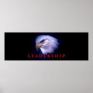 Motivational Leadership Eagle Eyes Blue Red Poster