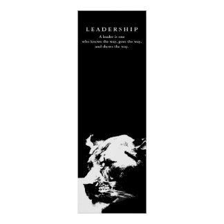 Motivational Leadership Female Lion Black White Poster