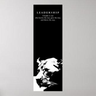 Motivational Leadership Female Lion Black White Poster
