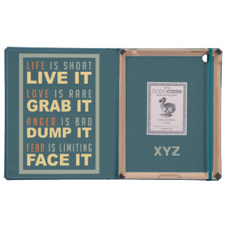 Motivational Life Advice cases iPad Covers