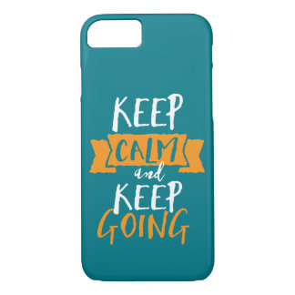 Motivational Life Quote Keep Calm Keep Going iPhone 8/7 Case
