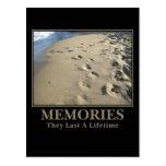 Motivational: Memories Last a Lifetime Post Cards