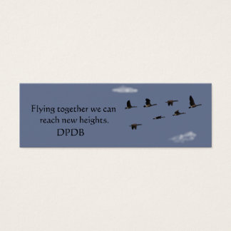 Motivational Mini Bookmark Mini Business Card